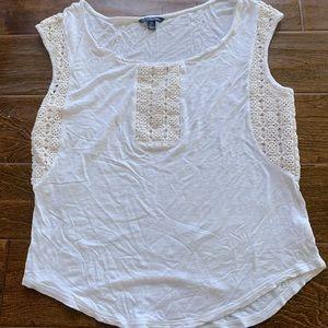 American Eagle Cream Knit Top (M)
